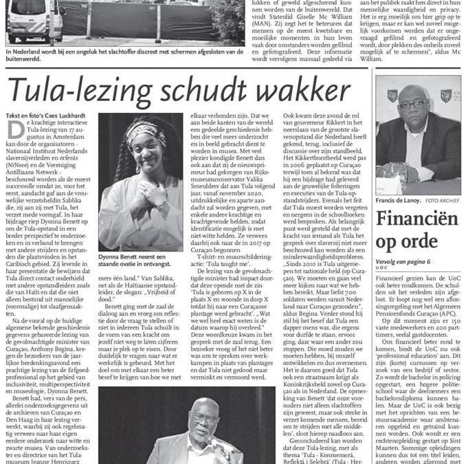 Tula-lezing schudt wakker!
